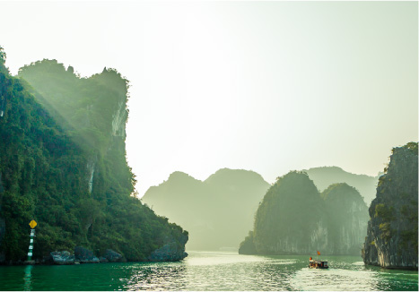 Halong Bay weather in winter
