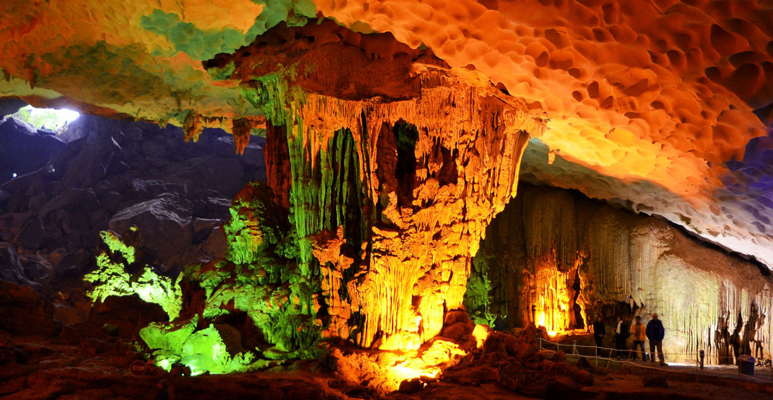 Halong Bay cave discovering